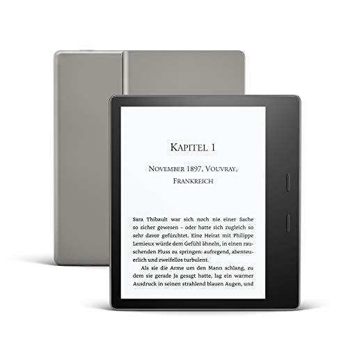 Kindle Oasis, Leselicht mit verstellbarer Farbtemperatur, wasserfest, 8 GB, WLAN, Grafit
